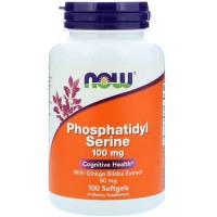 Now foods, phosphatidyl serine, 100 mg softgels - 100 ea