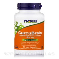 Now foods, curcubrain, cognitive support, 400 mg veg capsules - 50 ea