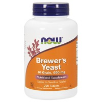 Nowfoods Brewers yeast 10 grain 650 mg tablets - 200 ea