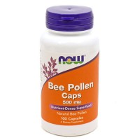 Now foods, bee pollen caps, 500 mg, capsules - 100 ea