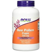 Now Foods bee pollen 500 mg capsules - 100 ea