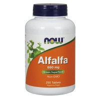 Now foods, alfalfa, 650 mg tablets - 250 ea