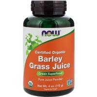 Now foods, certified organic barley grass juice - 4 oz