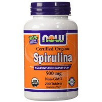 Now foods, certified organic spirulina, 500 mg tablets - 200 ea