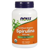 Now foods, certified organic spirulina, 500 mg tablets - 180 ea