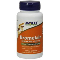 Nowfoods Bromelain 500 mg veg capsules - 60 ea