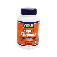 Nowfoods super enzymes for healthy digestion capsules - 90 ea