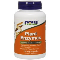 Now Foods plant enzymes veg capsules - 120 ea