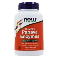 Nowfoods chewable papaya enzymes lonzenges - 180 ea