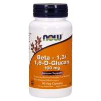 Nowfoods Beta 1, 3 and 1, 6 D Glucan 100 mg veg capsules - 90 ea