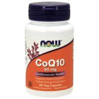 Now Foods CoQ10 60 mg cardiovascular health, veg capsules - 60 ea