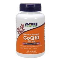 Now Foods CoQ10 600 mg cardiovascular health, veg capsules - 60 ea
