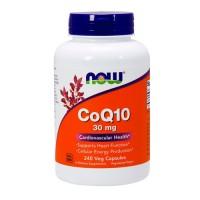 Now Foods CoQ10 30 mg cardiovascular health, veg capsules - 240 ea