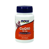 Now Foods CoQ10 50 mg cardiovascular health, softgels - 50 ea