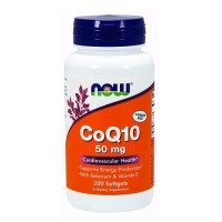 Now Foods CoQ10 50 mg cardiovascular health, softgels - 200 ea
