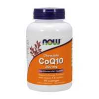 Now Foods CoQ10 200 mg cardiovascular health, lozenges - 90 ea