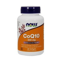 Now Foods CoQ10 400 mg cardiovascular health, lozenges - 60 ea