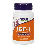 Now Foods IGF-1 deer antler velvet extract nutritional support lozenges - 30 ea