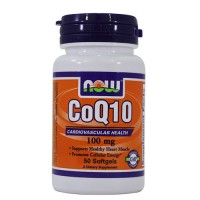 Now Foods CoQ10 100 mg cardiovascular health, softgels - 50 ea
