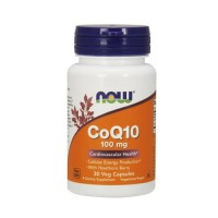 Now Foods CoQ10 100 mg with hawthorn berry cardiovascular health, veg capsules - 30 ea