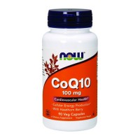 Now Foods CoQ10 100 mg with hawthorn berry cardiovascular health, veg capsules - 90 ea