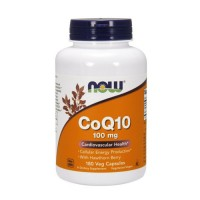 Now Foods CoQ10 100 mg with hawthorn berry cardiovascular health, veg capsules - 180 ea