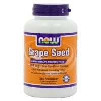 Now Foods grape seed 100 mg free radical protection, veg capsules - 200 ea