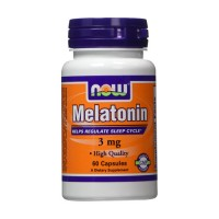 Now Foods Melatonin 3 mg healthy sleep cycle, capsules - 60 ea