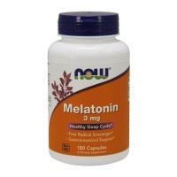 Now Foods Melatonin 3 mg healthy sleep cycle, capsules - 180 ea