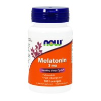 Now Foods Melatonin 3 mg healthy sleep cycle, lozenges - 180 ea