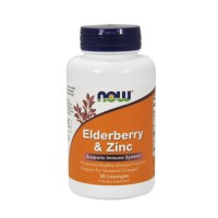 Now Foods elderberry and zinc supports immune system, lozenges - 30 ea