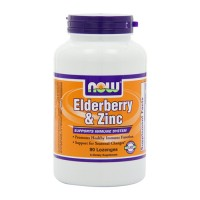 Now Foods elderberry and zinc supports immune system, lozenges - 90 ea
