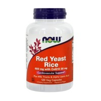 Now foods red rice yeast vegetarian capsules - 120 ea