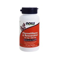Now foods pterostilbene and resveratrol vegetarian capsules - 60 ea
