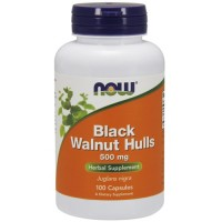 Now Foods black walnut hulls 500 mg capsules - 100 ea