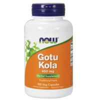 Now Foods gotu kola 450 mg veg capsules - 100 ea