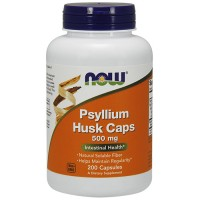 Nowfoods Psyllium husk caps 500 mg for intestinal health - 200 ea
