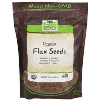 Now Foods real food certified organic flax seeds - 32 oz