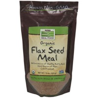 Now Foods real food certified organic flax seed meal - 12 oz