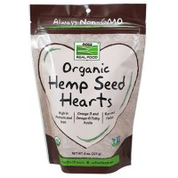 Now Foods real food organic hemp seed hearts - 8 oz