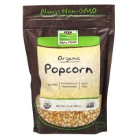 Now Foods real food organic popcorn - 24 oz