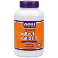 Now Foods beef gelatin 550 mg capsules - 200 ea