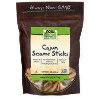 Now Foods real food cajun sesame sticks - 9 oz