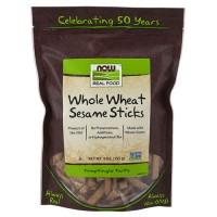 Now Foods real food whole wheat sesame sticks - 9 oz