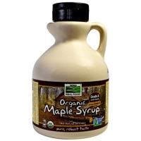 Now foods  maple syrup, Organic grade A dark color - 16 oz