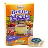 Nowfoods original better stevia sweetness - 45 ea