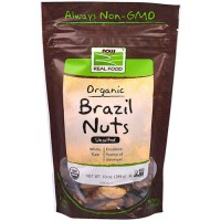 Now foods  organic brazil nuts, unsalted - 10 oz