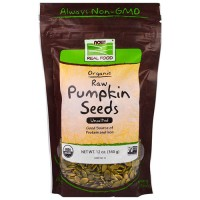 Now foods  organic, raw pumpkin seeds, unsalted - 12 oz