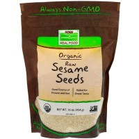 Now foods organic, raw sesame seeds - 16 oz