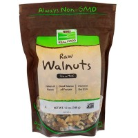 Now foods raw walnuts, unsalted -  12 oz